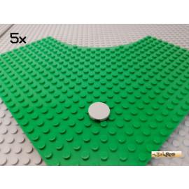 LEGO® 5Stk Fliese / Scheibe rund 2x2 neu-hellgrau 4150