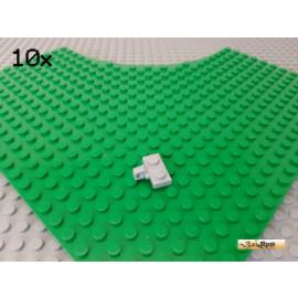 LEGO® 10Stk Platte 1x2 modifiziert Scharnier / Gelenk neu-hellgrau 44567