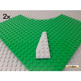 LEGO® 2Stk Flügelplatte / Keilplatte 8x3 neu-hellgrau 50305