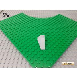 LEGO® 2Stk Keilstein / Flügelstein 2x4 neu-hellgrau 43711