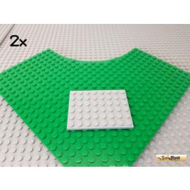 LEGO® 2Stk Platte 6x8 neu-hellgrau 3036