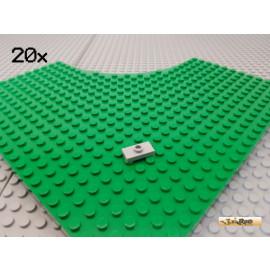 LEGO® 20Stk Fliese 1x2 mit Noppe neu-hellgrau 3794