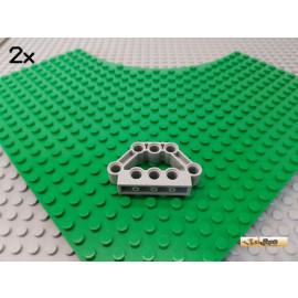 LEGO® 2Stk Technic Verbinder / Motorblock 1x5x3 neu-hellgrau 32333