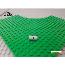 LEGO® 10Stk Technic Verbinder / Hülse mit Schlitz / Kerbe neu-hellgrau 62462