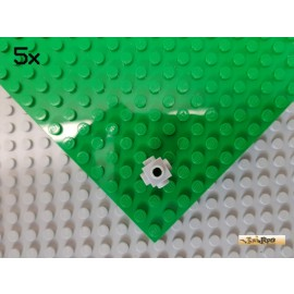LEGO® 5Stk Stein 1x1 mit 4 Noppen seitlich neu-hellgrau 4733