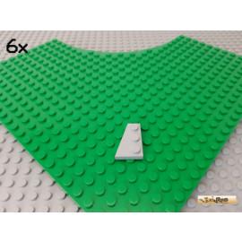 LEGO® 6Stk Flügelplatte / Keilplatte links 2x3 neu-hellgrau 41723
