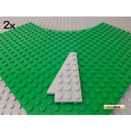 LEGO® 2Stk Flügelplatte / Keilplatte links 8x4 neu-hellgrau 3933