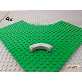 LEGO® 4Stk Bogenstein Viertelkreis 4x4 neu-hellgrau 48092