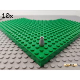 LEGO® 10Stk 1x1 rund Kegel Konisch neu-hellgrau 4589