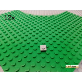 LEGO® 12Stk Platte 1x1 neu-hellgrau 3024