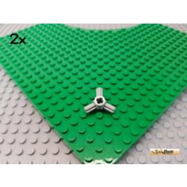 LEGO® 2Stk Technic Verbinder 3 Achsen neu-hellgrau 57585