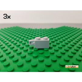 LEGO® 3Stk 1x2 Stein modifiziert Scharnier / Gelenk neu-hellgrau 30364