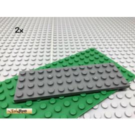 LEGO® 2Stk 4x12 Platte Plate Basic Basisplatte Dunkel Grau, Dark Gray 3029
