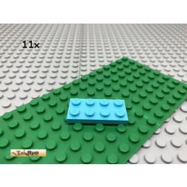 LEGO® 11Stk 2x4 Platte Plate Basic Classic Hellblau 3020
