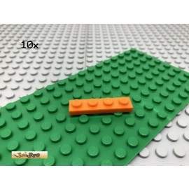 LEGO® 10Stk 1x4 Platte Plate Basic Classic Orange 3710
