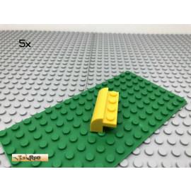 LEGO® 5Stk 2x4 Bogenstein Rundstein Basic Gelb, yellow 6081
