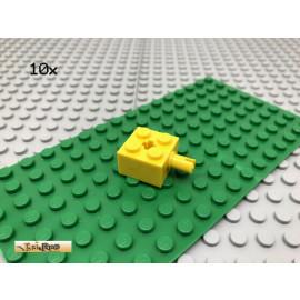 LEGO® 10Stk 2x2 Technic Achse Pin Kreuzloch Basic Classic Gelb, yellow 6232