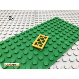 LEGO® 5Stk 1x2x3 Fenster Gitter Pearl Gold 60607