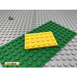 LEGO® 5Stk 4x6 Platte Plate flach Bauplatte Basic Classic Gelb yellow 3032