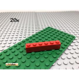 LEGO® 20Stk 1x6 Basisstein Basic Brick Rot Red 3009