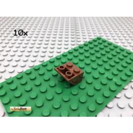 LEGO® 10Stk 2x2 45° negativ Schrägstein Brick Rotbraun Reddish Brown 3660
