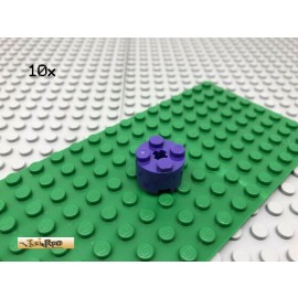 LEGO® 10Stk 2x2 Technic Rundstein Kreuz Loch Basic Violett Lila 3941