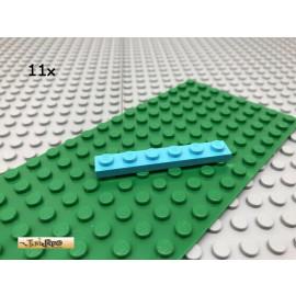 LEGO® 11Stk 1x6 Platte Plate Basic Classic Hellblau 3666