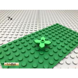 LEGO® 7Stk 1x1 Blatt Blume Blüte Pflanze Hellgrün Bright Green 4727