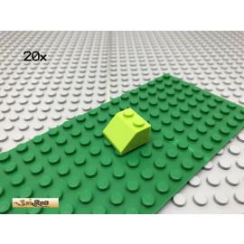 LEGO® 20Stk 2x2 Dachstein Schrägstein Limette Lime 3039