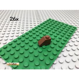 LEGO® 26Stk 1x2 Schrägstein Dachstein Rotbraun Reddish Brown 3040
