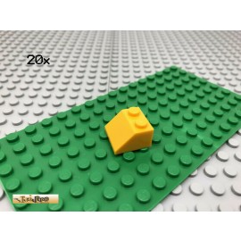 LEGO® 20Stk 2x2 Dachstein Schrägstein  Dunkelgelb Hellorange 3039