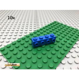 LEGO® 10Stk 1x4 Basicstein mit 4 Noppen seitlich Classic Basic Blau, blue 30414