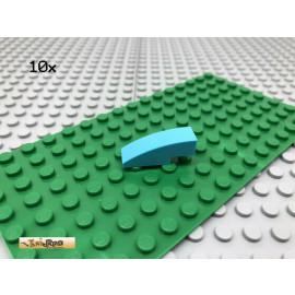 LEGO® 10Stk 1x3 Bogenstein abgerundet Bogen Basic Classic Hellblau 50950