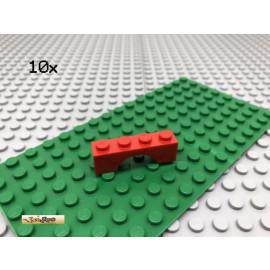 LEGO® 10Stk 1x4 Bogenstein, Brückenstein Brick Rot Red 3659