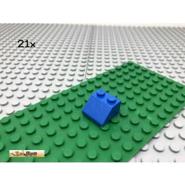 LEGO® 21Stk 2x2 Dachstein Schrägstein Classic Basic Blau, blue 3039