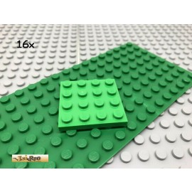 LEGO® 16Stk 4x4 Platte Plate flach Hellgrün Bright Green 3031