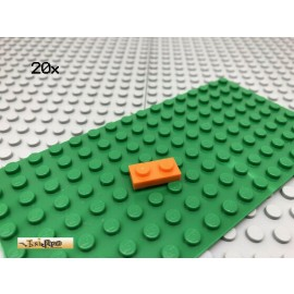 LEGO® 20Stk 1x2 Platte Plate Basic Classic Orange 3023