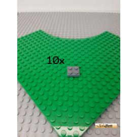 LEGO® 10Stk Platte 2x2 neu-dunkelgrau 3022