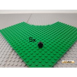 LEGO® 5Stk 1x1 mit Noppen auf 2 Seiten schwarz 47905