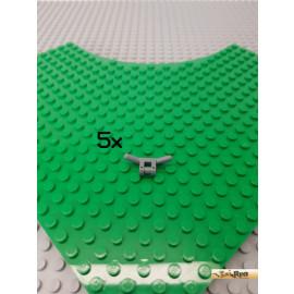 LEGO® 5Stk Lenker / Lenkstange neu-dunkelgrau 30031