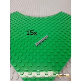 LEGO® 15Stk Technic Achse mit Stopper 4 Noppen lang neu-dunkelgrau 87083