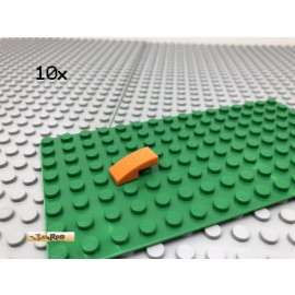 LEGO® 10Stk 1x2 Bogenstein Rund gebogen Orange 11477