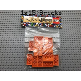 LEGO® 15Bricks 2x4 Basicstein Basic Classic Orange 3001