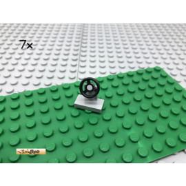 LEGO® 7Stk 1x2 Lenkrad Lenker Steuerrad Hellgrau 3829