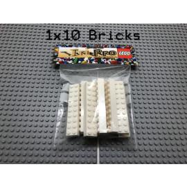 LEGO® 10Bricks 2x10 Basicstein Basic Classic Weiß White 3006