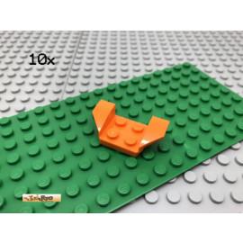 LEGO® 10Stk 2x4 Auto Kotflügel Flügel Platte Orange 41854