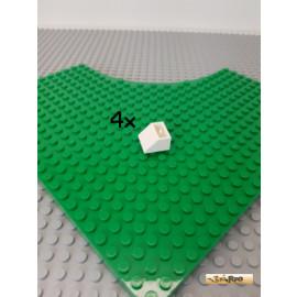 LEGO® 4Stk Schrägstein / Dachstein negativ 45° weiß 3660