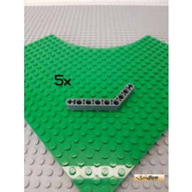 LEGO® 5Stk Technic Liftarm Eck neu-dunkelgrau 6629