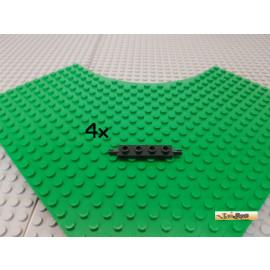 LEGO® 4Stk Platte 1x4 modifiziert für kleine Räder schwarz 2926