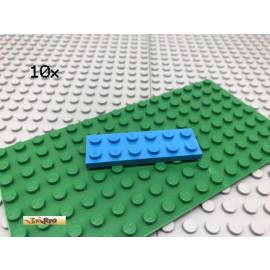 LEGO® 10Stk 2x6 Platte flach Basic Brick azur Blau 3795